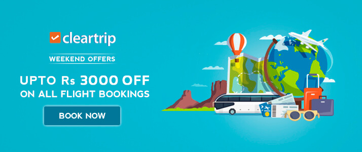 Cleartrip Rs 3000 OFF Promo Code