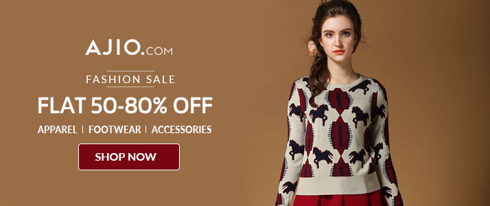 Flat 50% - 80% OFF Fashion Coupon Code