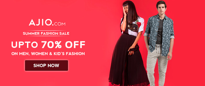 Ajio 70% OFF summer fashion sale