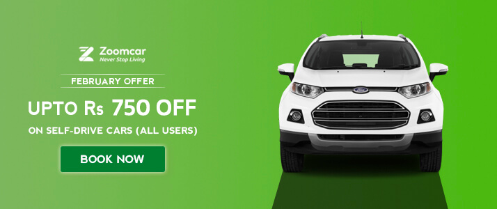 Rs 750 OFF Zoomcar Coupon Code