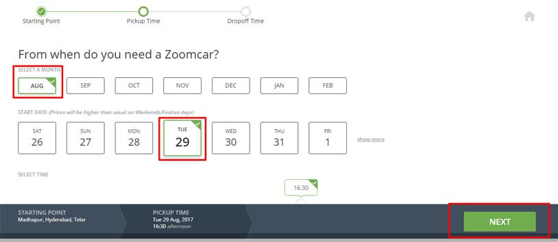 zoomcar booking